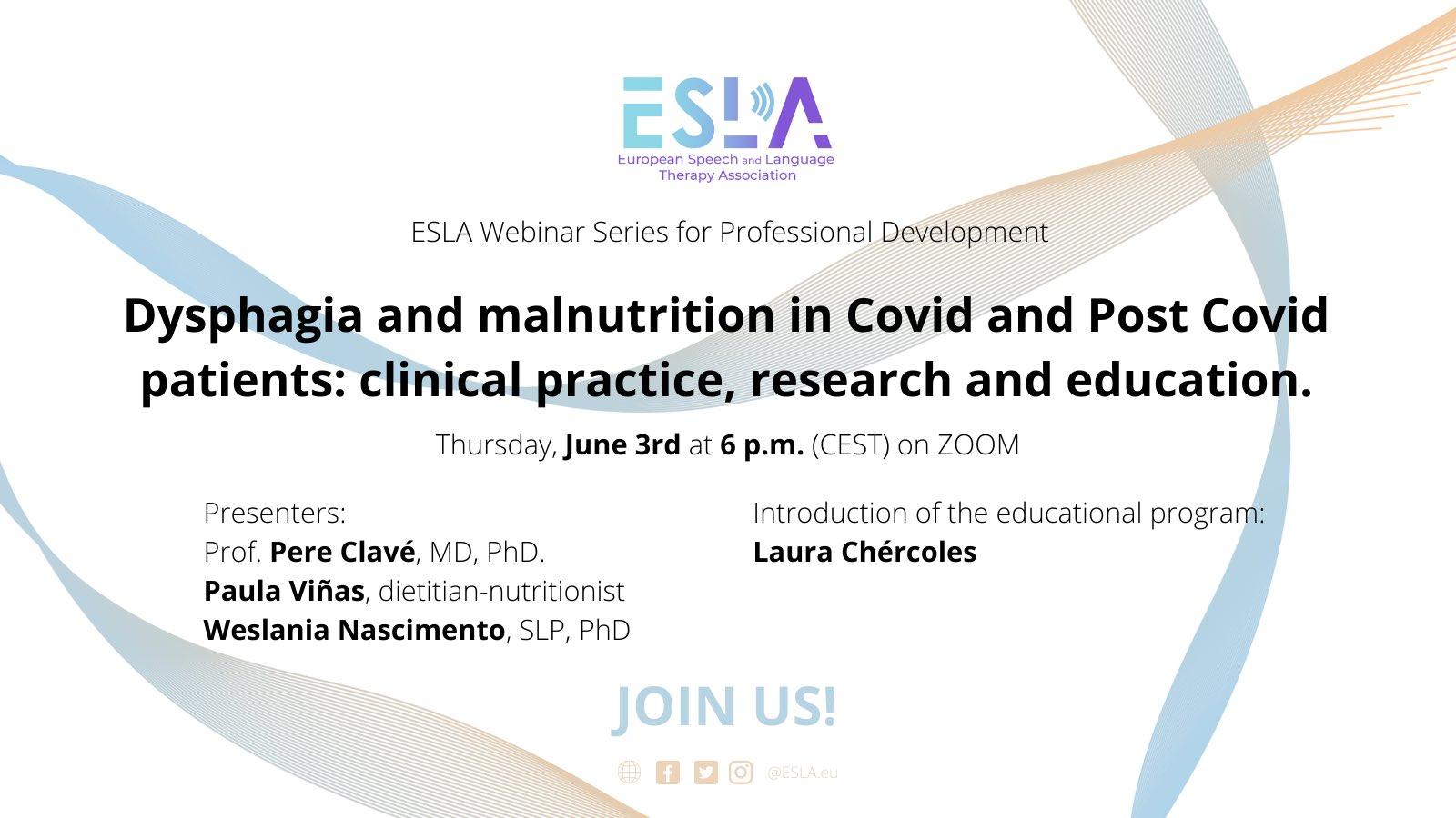 ESLA Professional Development webinar series